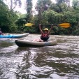 Kayaking on a secluded tropical river