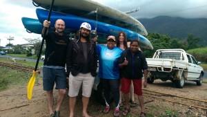 End of kayaking trip