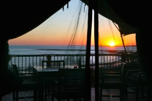 Sunrise at Kooljaman from safari tent
